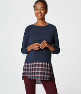 LOFT Petite Maternity Plaid Two In One Sweater