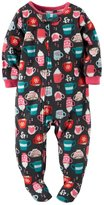 Carter's Baby Girls Fleece Pajamas (, Print)