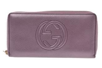 Gucci Purple Leather Wallets