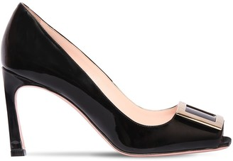 Roger Vivier 85mm Tropette Patent Leather Sandals