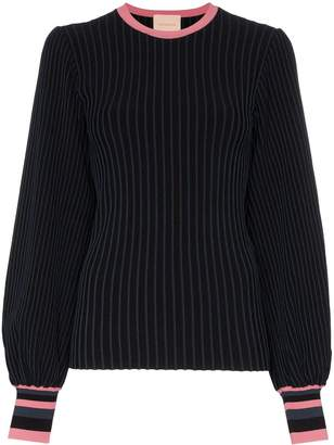 Roksanda Alia rib-knit balloon-sleeve top