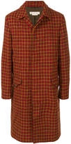 Marni houndstooth pattern tweed coat