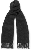 A.P.C. Fringed Virgin Wool-felt Scarf - Charcoal