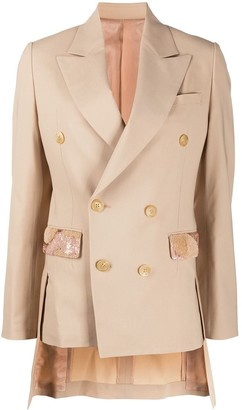 Undercover Double Breasted Embellished Blazer