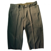 Maison Margiela Grey Wool Shorts