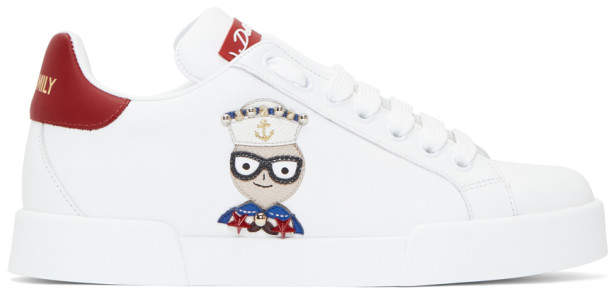 Dolce & Gabbana White Family Chef Sneakers