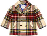 Gucci Baby wool tartan pea coat
