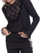Plenty by Tracy Reese Frilled Panel Long Sleeve Top