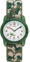 Timex Kid's T78141 Quartz Watch with White Analogue Display and Camouflage Elastic Strap