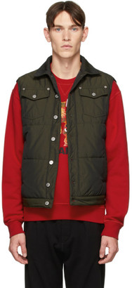DSQUARED2 Green Canvas Puffer Vest
