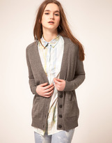 Asos Cardigan With Heart Elbow Patch