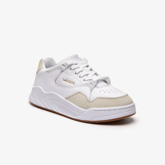 Lacoste Women's Court Slam Tonal Leather Trainers