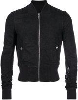 Rick Owens cropped bomber jacket - men - Cotton/Leather/Cupro/Virgin Wool - 48
