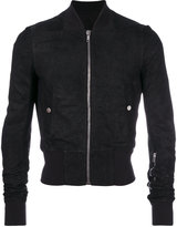 Rick Owens cropped bomber jacket - men - Leather/Virgin Wool/Cotton/Cupro - 48
