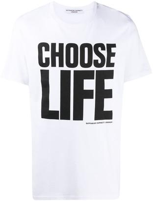 Katharine Hamnett Choose Life short sleeved T-shirt