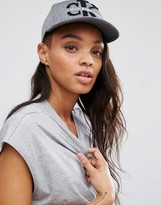Calvin Klein Logo Cap in Charcoal Gray