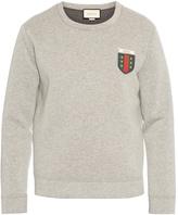 Gucci Logo-appliqué crew-neck neoprene sweatshirt