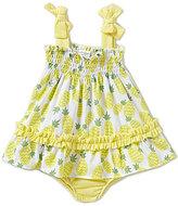Starting Out Baby Girls Newborn-24 Months Smocked Pineapple-Print Dress