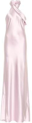 Galvan Exclusive to Mytheresa a Pandora silk satin dress
