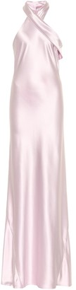 Galvan Exclusive to Mytheresa Pandora silk satin dress