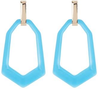 Halogen Hexagonal Resin Drop Earrings