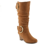 Journee Collection Irene-1 Wide Calf Wedge Boot