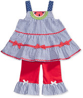 Nannette 2-Pc. Striped Watermelon Tunic and Capri Leggings Set, Baby Girls (0-24 months)