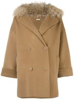 P.A.R.O.S.H. 'Lovery' coat - women - Polyester/Wool/Marmot Fur - S