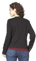 Mossimo Women's Plus-Size Long-Sleeve Ponte Jacket - Black