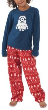 Munki Munki Matching Kids Holiday Minions Family Pajama Set