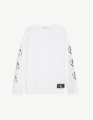 Calvin Klein Jeans Logo print organic cotton top 4-16 years