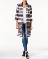 Bar III Striped Open-Front Blazer, Only at Macy's
