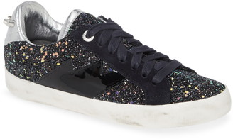 Zadig & Voltaire Used Glitter Lace-Up Sneaker
