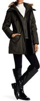 NOIZE Dani Removable Faux Fur Trim Hooded Coat
