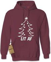Expression Tees Hoodie Lit AF Christmas Tree Adult