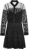Burberry Chantilly Lace Mini Dress - Black
