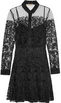 Burberry Chantilly Lace Mini Dress - Black