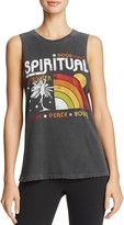 Spiritual Gangster Rainbow Sunset Graphic Muscle Tank