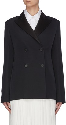 The Row 'Zori' peaked lapel double breasted wool-silk blazer