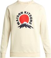 MAISON KITSUNÉ Mount Fuji-print crew-neck cotton sweatshirt