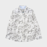 Paul Smith Boys' 7+ Years New York Print 'Master' Shirt