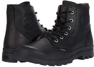 Palladium Pampa Hi Leather Ul (Black/Black) Shoes