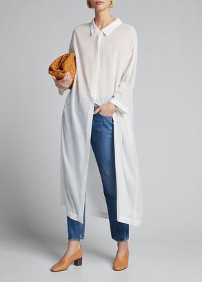 Moussy Cotton Chiffon Shirt Dress