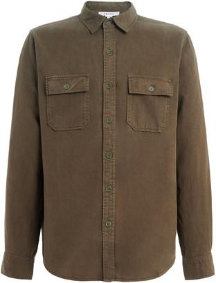 Frame Pocket-Detailed Cotton-Blend Twill Shirt