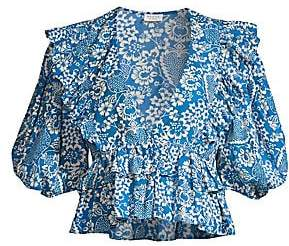 Rhode Resort Women's Elodie Puff Sleeve Blouse