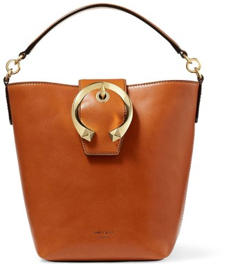 Jimmy Choo Leather Madeline Bucket Bag