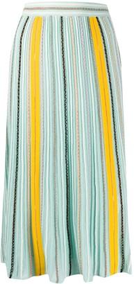M Missoni Striped Midi Skirt