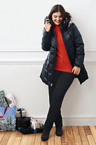 Classic Women's Plus Size Shimmer Down Parka-Deep Scarlet