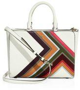 Tory Burch Robinson Multi-Stripe Leather Bag