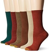 Gold Toe Women's Ribbed Crew 6 Pack